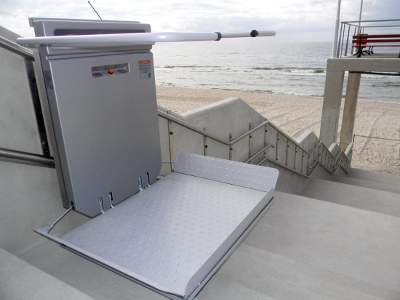 stair lift exterior application