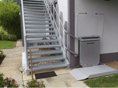 stair lift exterior application example