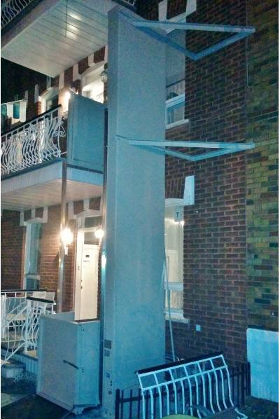 vista 355 wheelchair lift apartment building application